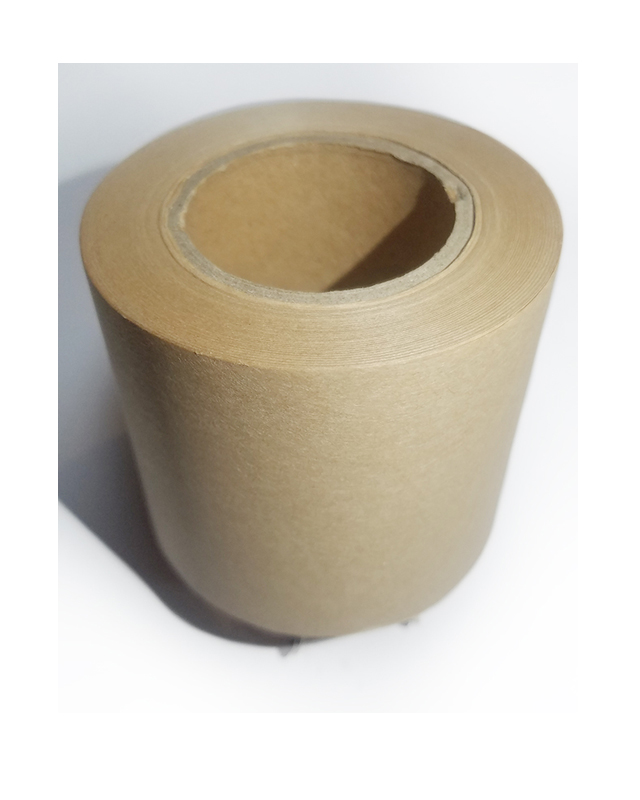 Wet water activated kraft paper tape